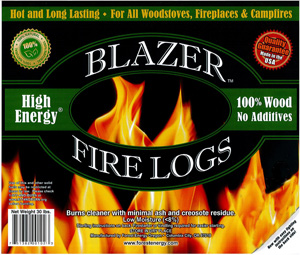 High Energy Fire Logs